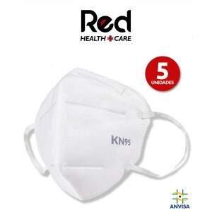 Kit 5x Máscaras Hospitalares N95 Pff2 5 Camadas Co..
